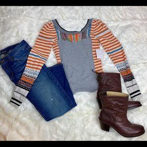 Free People Sweet Gal Thermal Sweater, XS